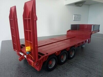 Bruder Tamiya RC 1/16 Low Loader Trailer With Working RC Ramps & Support Legs • 110£