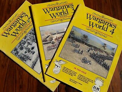 Wargames World Magazine Issues 2, 3 And 4 • 4.50£