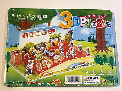 Plants Vs Zombies Diy Toy 3d Puzzle New Sealed Christmas Gift • 11.49£