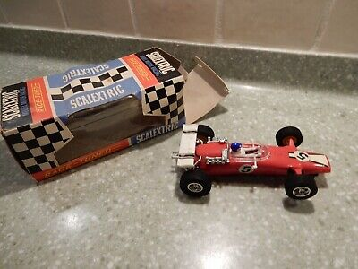 SCALEXTRIC Vintage C6 Red Panther With Powersledge Motor- VGC - Original Box  • 34.99£