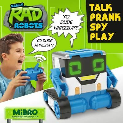 Really RAD Robots MiBro Childrens Remote Control Spy Toy Robot Play Fun Blue • 39.99£