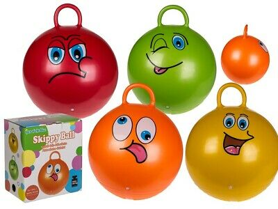 Kids Children's Space Hopper Skippy Ball Jump Ball Toy With Printed Funny Faces • 10.95£