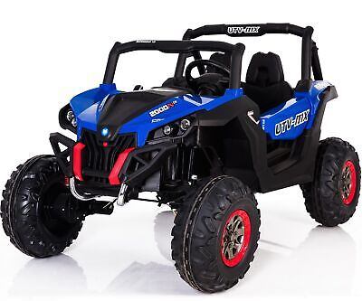 Renegade UTV-MX Buggy Style 24V 4WD Child's 2 Seat Electric Ride-on Jeep- Blue • 343.96£