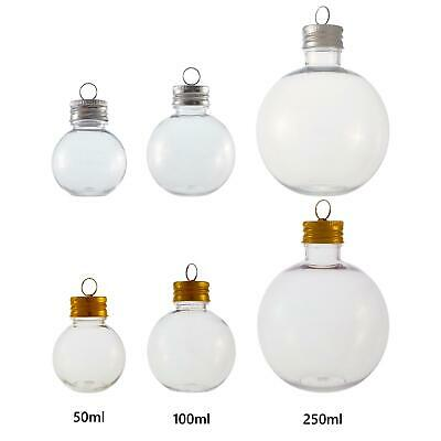 Fillable Gin Baubles - Choose Size & Lid - Perfect For Christmas Gifts Drinking • 7.95£