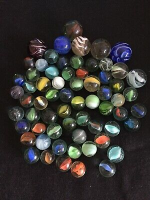Job Lot Of Vintage Marbles Including Large Shooters Glass Handmade • 4.50£