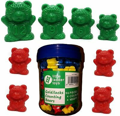 Counting Bears X 96 + Storage Tub Educational Learning Resources Maths Toy NEW • 15.99£