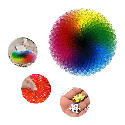 1000PCS Round Rainbow Palette Jigsaw Puzzles Adult Kids Educational Puzzle Gift • 6.99£