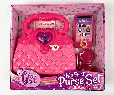 Glitz Girlz My First Purse Phone Lipstick Play Credit Card Makeup Compact • 11.99£