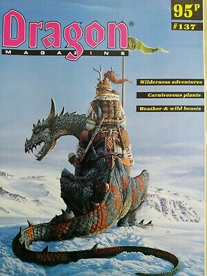Dragon Magazine - #137 (advanced Dungeons & Dragons, Ad&d Rpg) • 1.50£