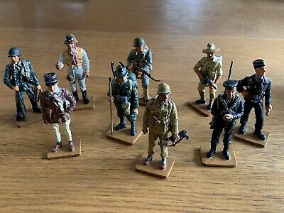 9 DEL PRADO MEN AT WAR WW2 Toy Soldier Figures 1934 - 1943 • 5£