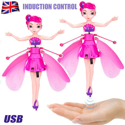 UK Wireless Flying Fairy Magical Pink Doll Toy Princess Rechargeable Fairy-Girls • 7.49£