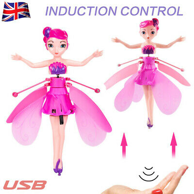 Kids Flying Fairy Princess Dolls Magic Infrared Induction Control Toy Child Gift • 6.99£