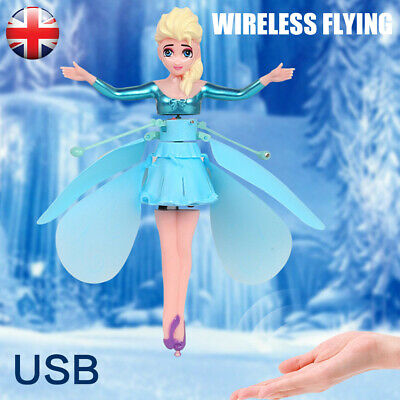 Frozen Princess Flying Fairy Magic Infrared Induction Control Toy Kids Gift - UK • 8.59£