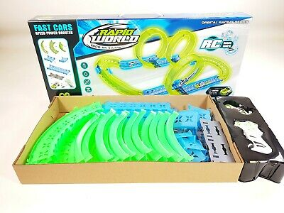 Electric Remote Control Slot Car Racing Track Set Childrens Toy Race Game Model • 32.99£