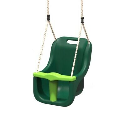 Rebo Baby Swing Seat Safety Back Supporting Swing Adjustable Ropes - Green • 16.95£