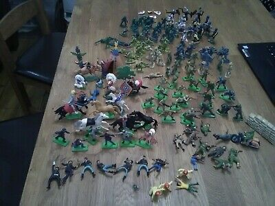 Vintage Toy Bundle, 150+ Figures, Britains Deetail  & Others, Soldiers, Cowboys/ • 29£