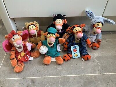 Disney Tigger Beanie Soft Toy Plush 6 Piece Bundle With Tags • 10.49£