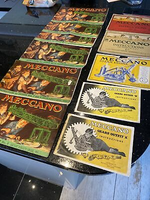 Vintage Meccano Instructions Booklets X 11 • 20£