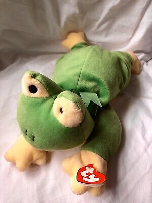 Ribbit The Frog Ty Pillow Pals Green Yellow New With Tags • 12.99£