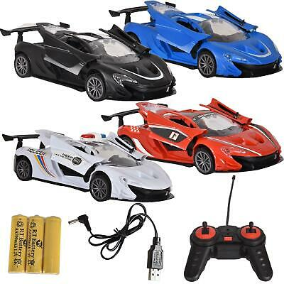 Kids Racing Car Police RC Fast 1:18 Power Remote Control Ferrari USB Battery Toy • 8.99£