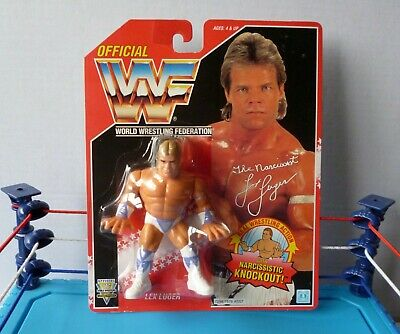 WWF / WWE Hasbro LEX LUGER 1994 Series 8 RED 6 Back Card US/English MOC • 170£