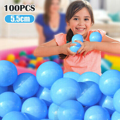 100 X Ball Pit Balls Play Kids Plastic Baby Ocean Soft Toy Colourful Playpen Fun • 8.39£