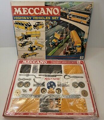 Vintage Meccano Highway Vehicles Set - Boxed 1970's Construction Toy • 19.99£