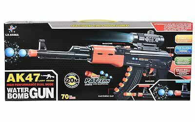 Kids Toy Gun AK47 Water Soft Bullet Rifle Light Sound 70 Cm 3 In 1 Children Gift • 11.99£