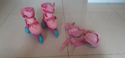 Roller Boots, 3 Wheel, Girls, Pink, Early Learning Centre, Size 9 - 12 • 2.25£