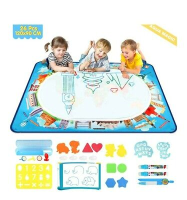 Baztoy Water Doodle Mat,Large Aqua Drawing Mat 120*90CM With 26 Pcs Accessories, • 25£