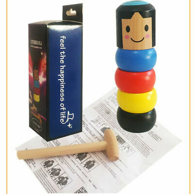 Unbreakable Wooden Magic Toy The Wooden Stubborn Man Toy FUNNY Gifts • 2.30£