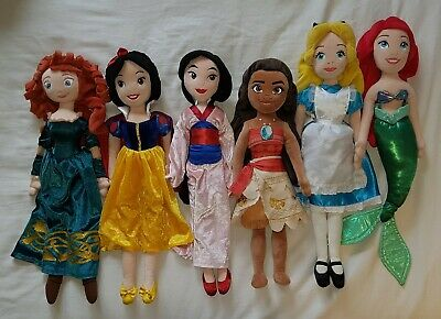 Disney Princess Plush Doll Bundle 6 Great Characters  • 10.56£