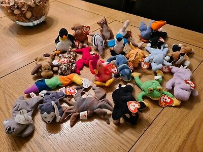 23 X Unique Ty Teenie Beanie Babies Soft Toys Vintage McDonalds (1993) With Tags • 25£