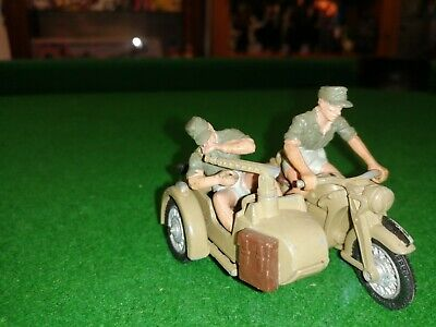 Britains German Motorcycle Africa Corps Combined Motorcycle Ww2 God Condition • 9.99£