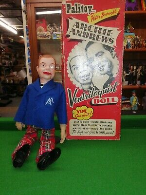Ventriloquist Dummy Doll Near Mint Condition Boxed Archive Andrews 1950 Look • 34£