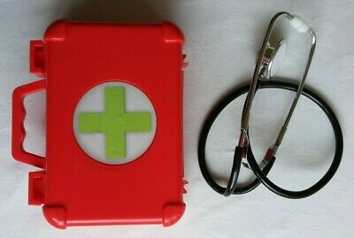 Toy First Aid Box With 5 Plastic Instruments And Ex-doctor's Stethoscope (f) • 7.99£