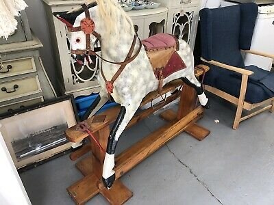 Vintage Wooden Rocking Horse Dapple Grey By J Collinson And Sons • 750£