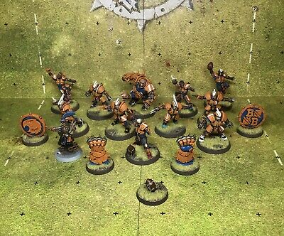 Tabletop Painted Human Bloodbowl Team With Ogre & Coach • 139.99£