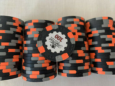 100$ X 100 Jetons Paulson World Top Hat And Cane (WTHC) • 492.44£