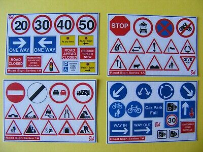 Road Sign Sticker Mini Set Collection Series 1a • 2.50£