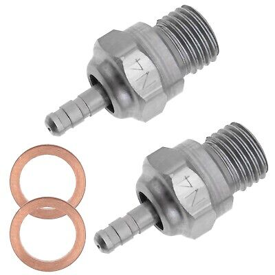 2x N4 Hot Nitro Engine RC Car Truck Boats Spark Glow Plug Fit For 1/10 HSP 70117 • 11.26£