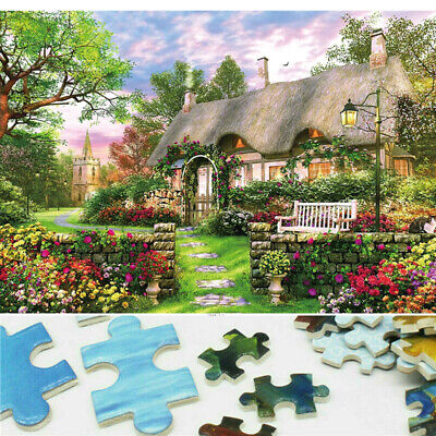 1000 Piece England Cottage Jigsaw Puzzle Puzzles Adults Learning Education UK • 7.59£