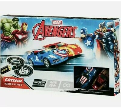 Carrera Toy Marvel Avengers Slot Car Racing Track Set With 2 Cars NEW • 32£