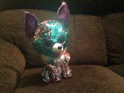 Ty Sequin Flippables Chihuahua Yappy • 2£