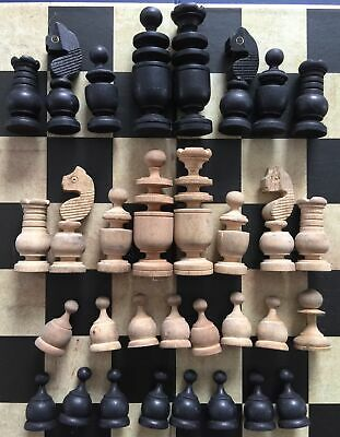 """Antique Victorian/Edwardian """"French Regency Style"""" Chess Set. King 61mm. • 15£"""