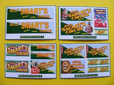 BILLY SMARTS CIRCUS STICKERS SERIES 3 - 4 X MINI SHEETS • 2.50£