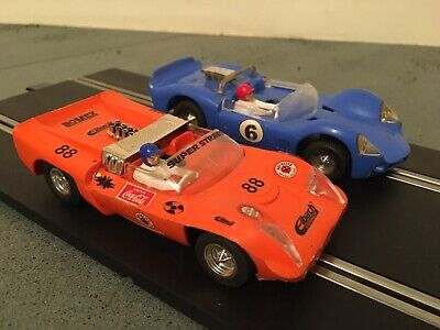 Vintage Scalextric Elektra & Javelin Car Set Rare & Great Drive! • 10.50£