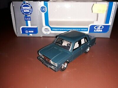 ARAT 1/43 Lada 2107 With Opening Doors, Bonnet And Boot. Blue. Mint/Boxed • 5.50£