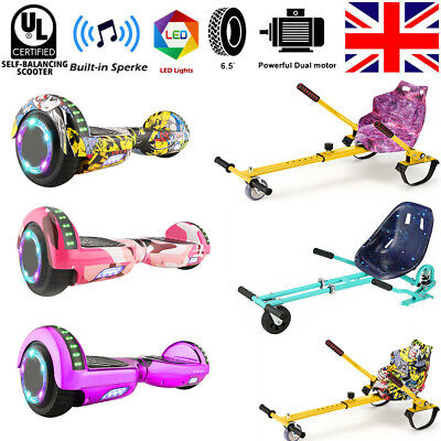Hover Board 6.5 Bluetooth Electric LED Self-Balancing Scooter Kids Super Gift • 119.99£
