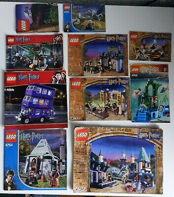 Harry Potter Lego INSTRUCTIONS ONLY 4730, 4865, 4866, 4754, 4750, 4701, 4762,... • 3.50£